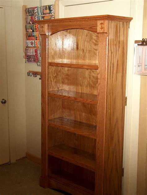 How To Stain Oak Bookcase