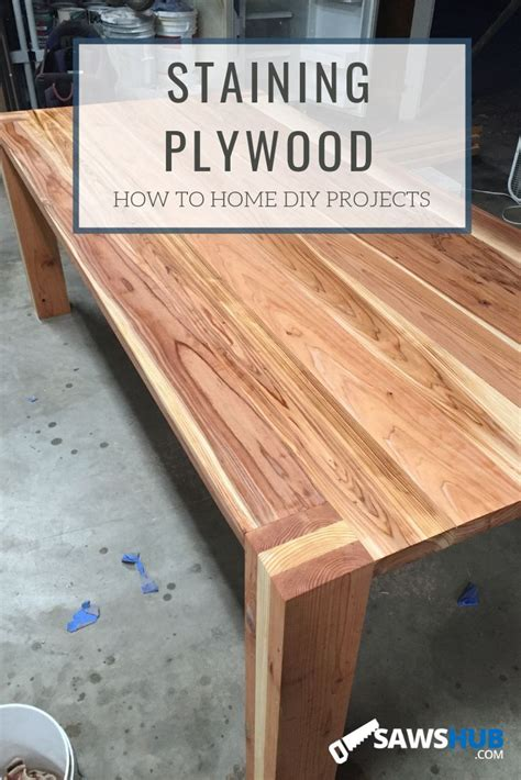 How To Stain Oak Plywood Video