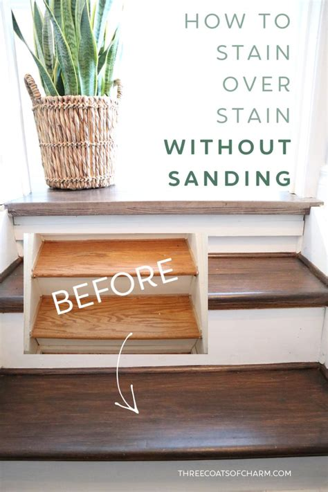 How To Stain Old Wood Trim Sanded