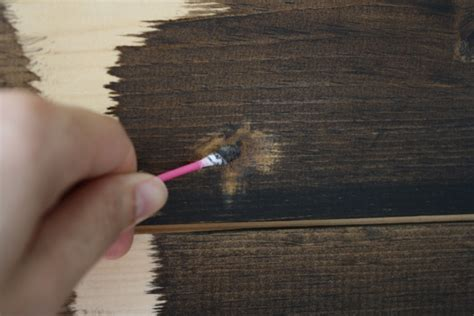 How To Stain Over Wood Filler