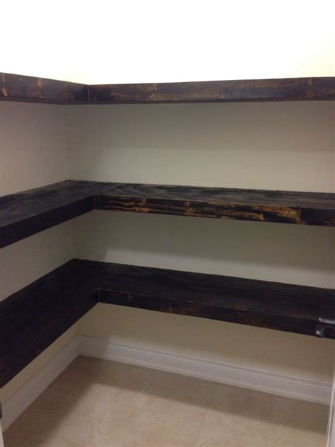 How To Stain Pantry Shelves
