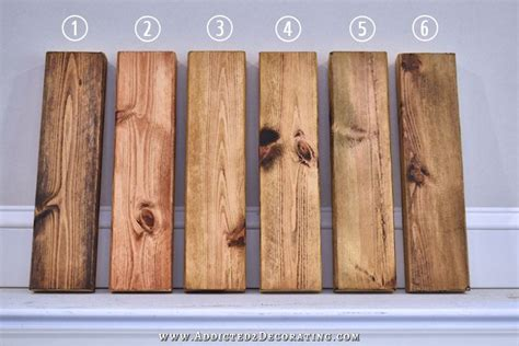 How To Stain Pine A Dark Color