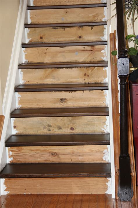 How To Stain Pine Stair Steps
