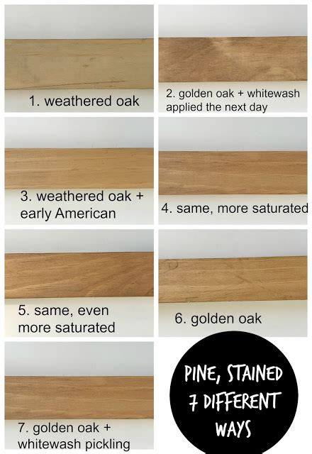 How To Stain Pine To Look Like Oak Wood