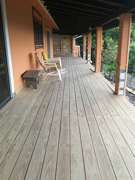 How To Stain Pressure Treated Lumber Deck