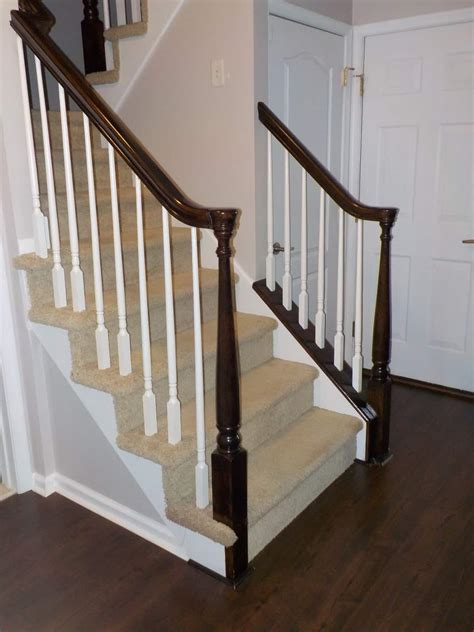 How To Stain Staircase Handrail