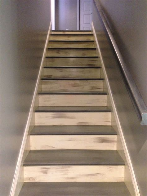 How To Stain Stairs A Weathered Grey