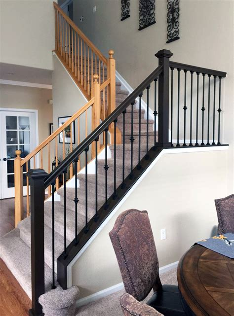 How To Stain Stairs Handrail Details