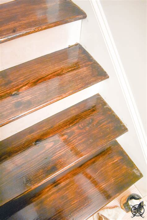 How To Stain Step Treads And Poly