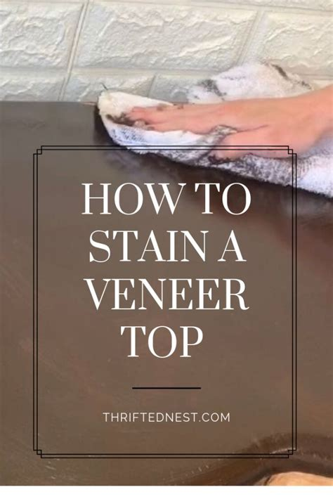 How To Stain Veneer
