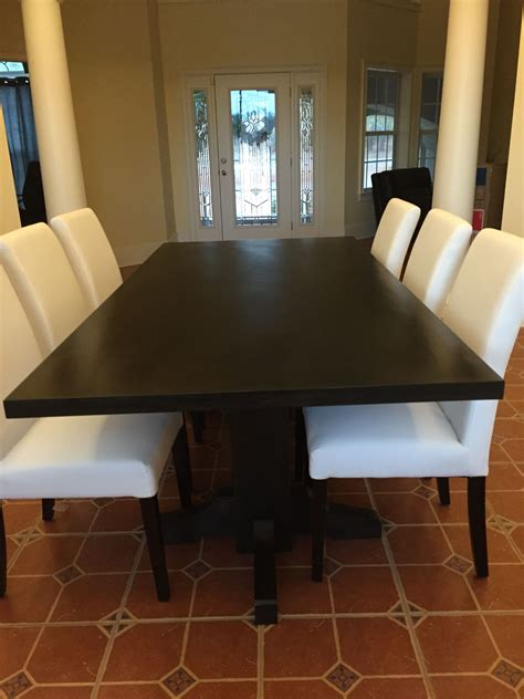 How To Stain Walnut Dining Table A Dark Color