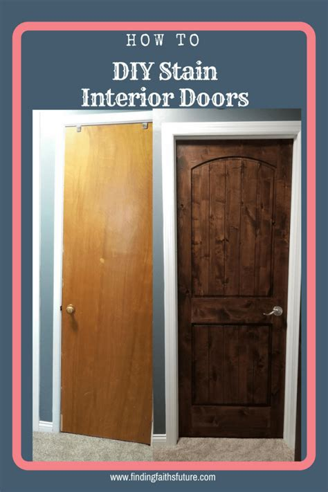 How To Stain Wood Doors Interior