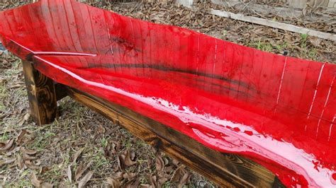 How To Stain Wood Red