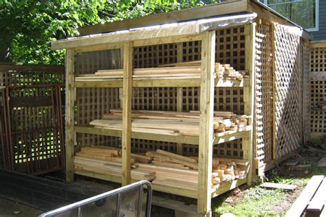 How To Store Lumber Inside A Utility Shed