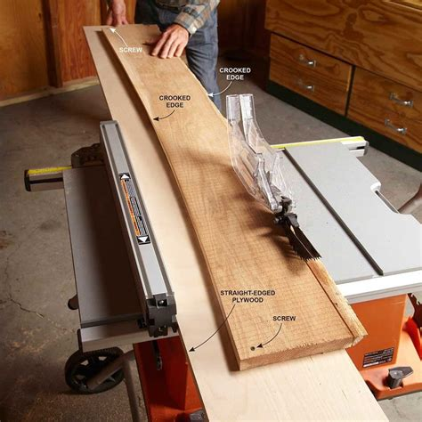 How To Straighten A Board On A Table Saw