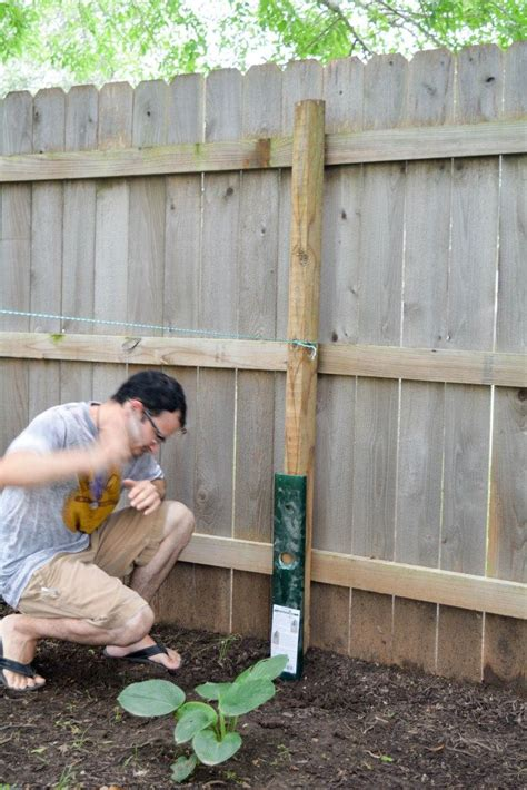 How To Straighten Wooden Fence Post