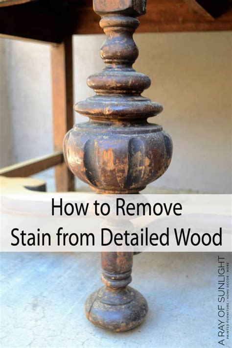 How To Strip Stain From Antique Furniture