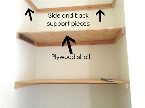 How To Support A Shelf In Back And Side
