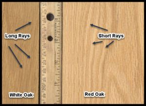How To Tell White Oak From Red Oak Lumber