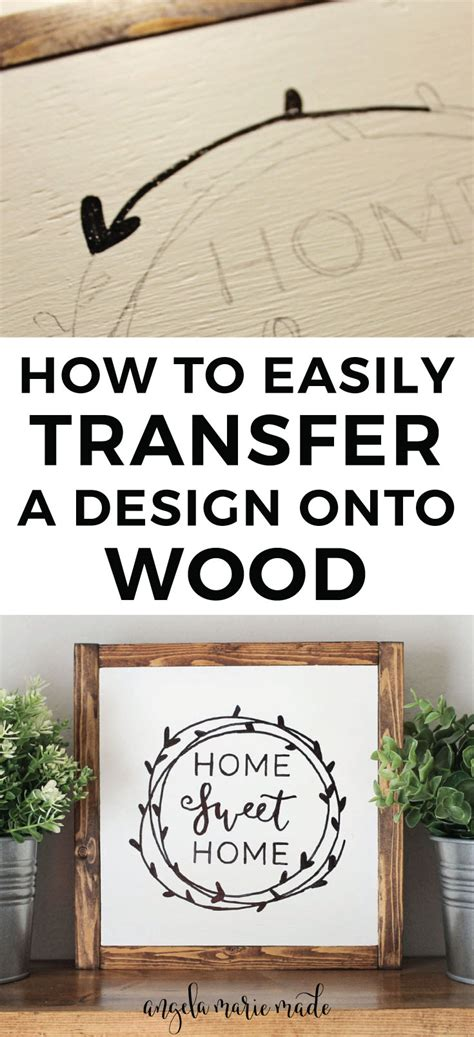 How To Trace Onto Wood