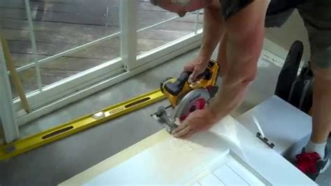 How To Trim A Door After Installing New Carpet