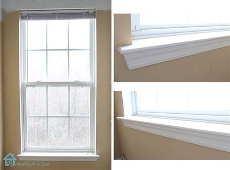 How To Trim Out A Window Sill