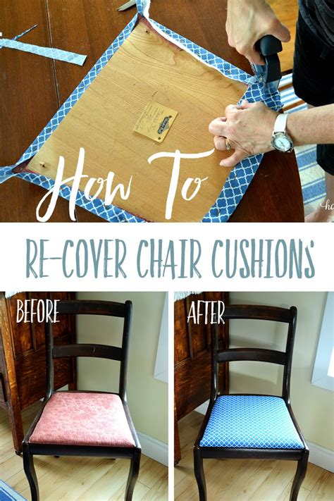 How To Upholster A Cushion Straight Chair