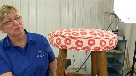 How To Upholster A Cushion To A Wood Stool