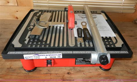 How To Use A Husky Wet Tile Saw