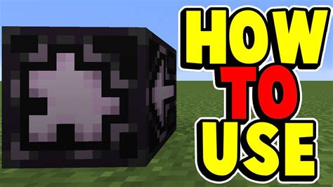 How To Use A Jigsaw Block In Minecraft