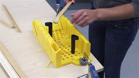 How To Use A Miter Box Video