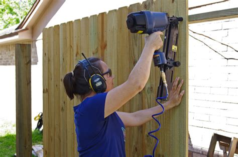 How To Use A Nail Gun On A Wooden Fence