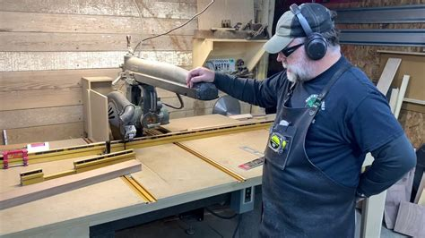 How To Use A Radial Arm Saw Youtube