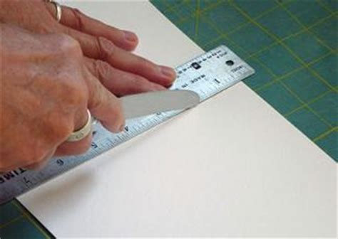 How To Use A Scoring Knife With Cardstock