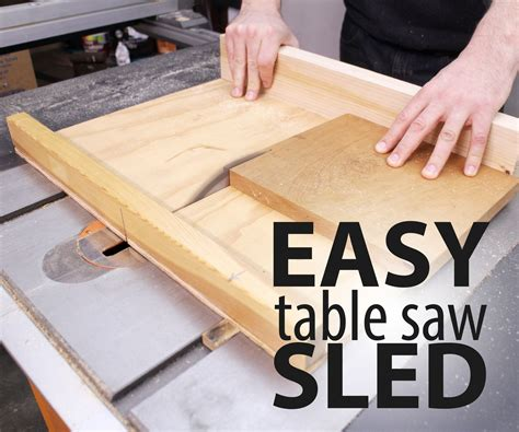 How To Use A Table Saw Sled