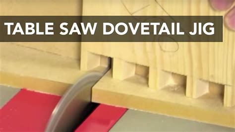How To Use A Table Saw To Cut Dovetails