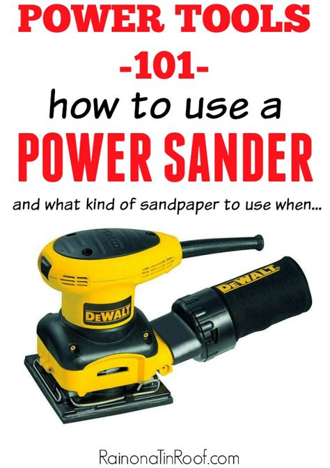 How To Use An Electric Sander Power Tool