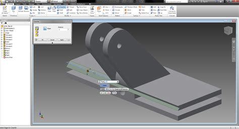 How To Use Chamfer In Autodesk Inventor