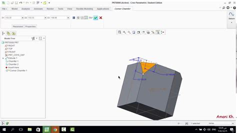 How To Use Chamfer Tool On Creo