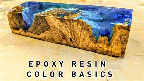 How To Use Colored Epoxy Resin On Wood