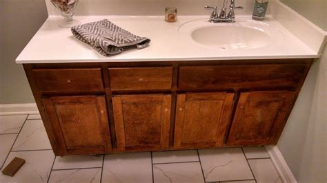 How To Use Gel Stain On Vanity