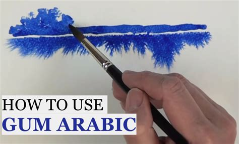 How To Use Gum Arabic In Watercolor