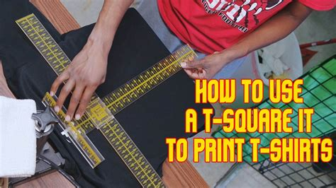 How To Use T Square For T Shirt