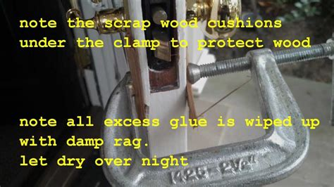 How To Use Wood Glue On Rotten Door