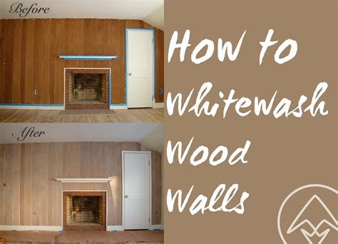 How To Whitewash Stain Wood Wall