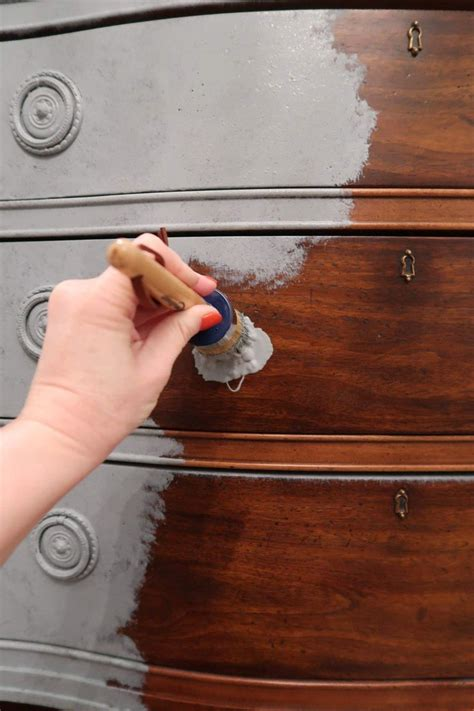 How To Whitewash Stained Wood With Chalk Paint