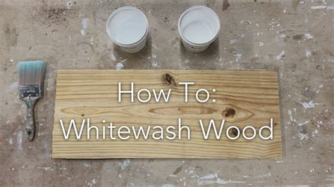How To Whitewash Stained Wood Youtube