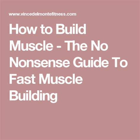 [pdf] How To Build Muscle - The No Nonsense Guide To Fast Muscle .