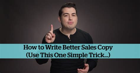 [click]how To Write Better Sales Copy Use This One Tip .