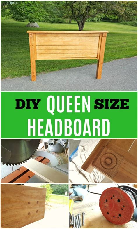 How to build a queen size wooden headboard Image
